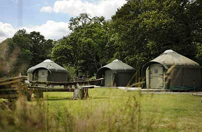 Yurt camping holidays at Stock Gaylard Country Estate in Dorset